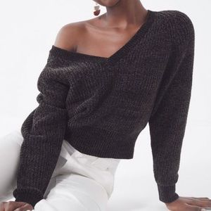 Urban Outfitters Cozy Chenille V-Neck Sweater
